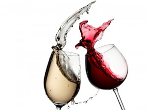 wine splash via shutterstock