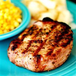 Grilled Lemon Herb Pork Chops