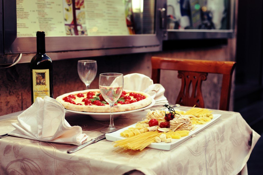 Italian Food with Wine