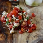 Red Wine Marinated Flank Steak with Cherry Tomato Caprese Salsa 4