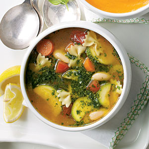 Vegetable Soup with Basil Pesto