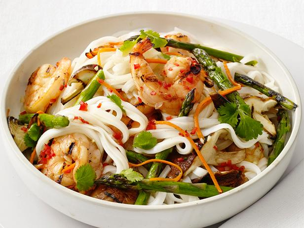 Grilled Shrimp and Noodle Salad