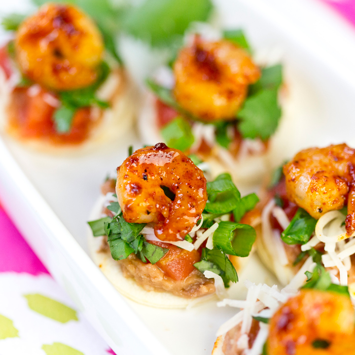 Shrimp Tostada Bites