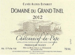 Grand Tinel Cuvee Establet 2012
