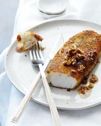 Sea Bass Fillets with Lemon-Hazelnut Brown Butter