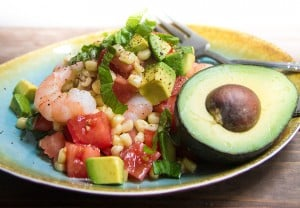 Avocado-Roasted-Corn-and-Shrimp-Salad