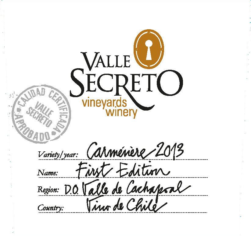 Valle Secreto First Edition Carmenere 2013