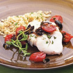 roasted-cod-with-warm-tomato-olive-caper-tapenade