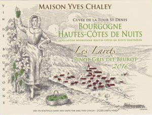 Maison Yves Chaley Cuvee De La Tour St Denis Les Larets Pinot Gris Dit Beurot 2016