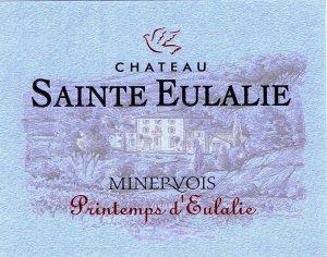 Château Sainte Eulalie Printemps d'Eulalie Minervois 2018