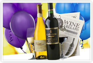 Wine Bottles With Balloons